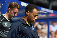 Blackburn Rovers' Elliott Bennett leads out the team<br /> <br /> Photographer Rob Newell/CameraSport<br /> <br /> The EFL Sky Bet Championship - Queens Park Rangers v Blackburn Rovers - Friday 19th April 2019 - Loftus Road - London<br /> <br /> World Copyright © 2019 CameraSport. All rights reserved. 43 Linden Ave. Countesthorpe. Leicester. England. LE8 5PG - Tel: +44 (0) 116 277 4147 - admin@camerasport.com - www.camerasport.com