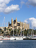 View over the fishing port of Palma to the Cathedral La Seu<br /> <br /> Vista sobre el puerto pesquero de Palma a la catedral La Seu<br /> <br /> Blick &uuml;ber den Hafen von Palma auf die Kathedrale La Seu<br /> <br /> 2272 x 1704 px<br /> 150 dpi: 38,47 x 28,85 cm<br /> 300 dpi: 19,24 x 14,43 cm