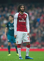Arsenal's Mohamed Elneny during the EPL - Premier League match between Arsenal and Southampton at the Emirates Stadium, London, England on 8 April 2018. Photo by Andrew Aleksiejczuk / PRiME Media Images.