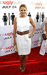 """HOLLYWOOD, CA. - July 16: Jennifer Morrison arrives at the Los Angeles premiere of """"The Ugly Truth"""" held at the Pacific's Cinerama Dome on July 16, 2009 in Hollywood, California."""