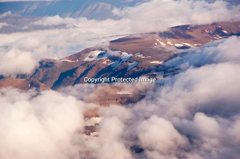Aerial Akureyri Iceland