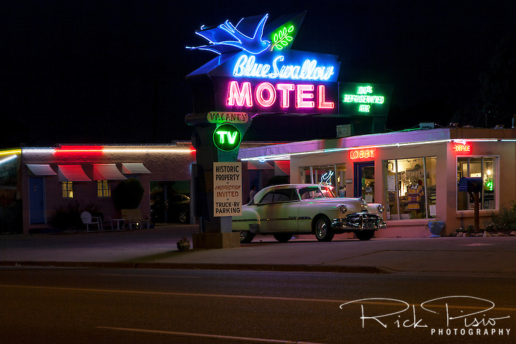 The historic Blue Swallow Motel still awaits travelers along Route 66 in Tucumcari, New Mexico.