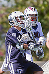 Los Angeles, CA 03/12/16 - Taylor Brundage (Utah State #47) in action during the Utah State vs Loyola Marymount MCLA Men's Division I game at Leavey Field at LMU.  Utah State defeated LMU 17-4.