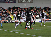 Victor Wanyama looking for options in the St Mirren v Celtic Clydesdale Bank Scottish Premier League match played at St Mirren Park, Paisley on 20.10.12.