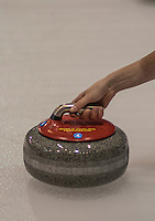 Glasgow. SCOTLAND.  &quot;The Grip', handling the &quot;Stone through, the Hack&quot; Round Robin&quot; Games. Le Gruy&egrave;re European Curling Championships. 2016 Venue, Braehead  Scotland<br /> Monday  21/11/2016<br /> <br /> [Mandatory Credit; Peter Spurrier/Intersport-images]