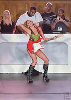 Miami Dolphins Cheerleader walks runway at Miami Dolphins Cheerleaders 2013 Swimsuit Calendar Unveiling Fashion Show at LIV Nightclub in The Fontainebleau Miami Beach Hotel, Miami Beach, FL on August 26, 2012