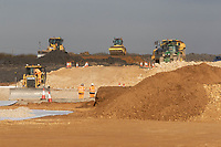 Construction of the Lincoln Bypass going through farmland<br /> &copy;Tim Scrivener Photographer 07850 303986<br />      ....Covering Agriculture In The UK....