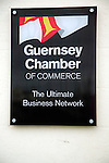 Guernsey Chamber of Commerce sign, St Peter Port, Guernsey, Channel Islands, UK