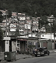 Favela at the back of Guaruja in Brazil