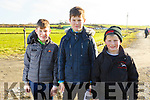 Adam Lynch, TJ O'Sullivan and Evan O'Connor from Ballyduff at the Ballyduff Coursing on Sunday.