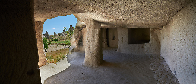 Pictures & images of interior cave rooms of Aynali Kilise (Church) a cave church complex, iconoclastic period (725-842), near Goreme, Cappadocia, Nevsehir, Turkey