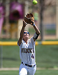 Western Nevada's Madi Gonzalez makes a catch in a college softball game against North Idaho College at Edmonds Sports Complex, in Carson City, Nev., on Friday, April 18, 2014.<br /> Photo by Cathleen Allison/Nevada Photo Source