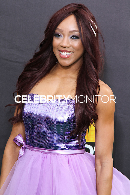 SANTA MONICA, CA, USA - FEBRUARY 15: Alicia Fox at the 4th Annual Cartoon Network Hall Of Game Awards held at Barker Hangar on February 15, 2014 in Santa Monica, California, United States. (Photo by David Acosta/Celebrity Monitor)