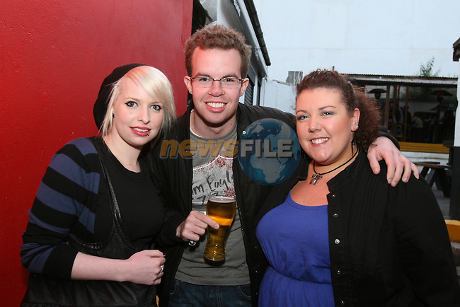 Claire Maguire, Sean Carroll and Karen Gildea enjoy a night out in McPhails...Photo NEWSFILE/Jenny Matthews.(Photo credit should read Jenny Matthews/NEWSFILE)....This Picture has been sent you under the condtions enclosed by:.Newsfile Ltd..The Studio,.Millmount Abbey,.Drogheda,.Co Meath..Ireland..Tel: +353(0)41-9871240.Fax: +353(0)41-9871260.GSM: +353(0)86-2500958.email: pictures@newsfile.ie.www.newsfile.ie.FTP: 193.120.102.198.