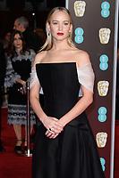 Jennifer Lawrence<br /> arriving for the BAFTA Film Awards 2018 at the Royal Albert Hall, London<br /> <br /> <br /> ©Ash Knotek  D3381  18/02/2018