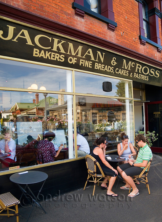 Jackman & McRoss - a renowned bakery and cafe at Battery Point.  Hobart, Tasmania, Australia
