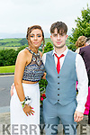 Enjoying the Colaiste Ide agus Iosef, Abbeyfeale  Debs at Ballyroe Heights Hotel on Tuesday were Orla Greaney and Conor Hill