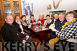 Pictured at the Ger 'The Yank' O'Sullivan Memorial Card Drive in the Waterville Inn on Monday night were l-r; Paud Collins, Nula O'Sullivan, Angela Hallissey, Breda Foley, Phill Collins, Kathleen Curran, Mike O'Connor, Tim Keating & Helen O'Sullivan.  150 players took part from all corners of South Kerry and all funds raised from the event are going to the Cardiology Unit of the Mater Hospital in Dublin.
