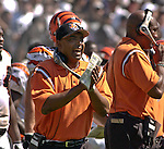 Bengals head coach Marv Lewis on Sunday, September 14, 2003, in Oakland, California. The Raiders defeated the Bengals 23-20.