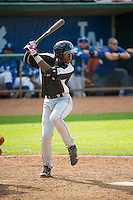 Mylz Jones (13) of the Grand Junction Rockies at bat against the Ogden Raptors in Pioneer League action at Lindquist Field on July 5, 2015 in Ogden, Utah. Ogden defeated Grand Junction 12-2.  (Stephen Smith/Four Seam Images)