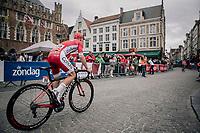 Michaël Van Staeyen (BEL/Cofidis) pre race. <br /> <br /> 2nd Elfstedenronde 2018<br /> 1 day race: Brugge - Brugge 196.3km