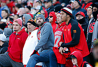 Ohio State Buckeyes fans looks at the scoreboard nervously in the second half of their game at Maryland Stadium in College Park, MD on November 17, 2018. [ Brooke LaValley / Dispatch ]