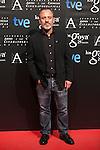 Javier Gutierrez poses before the 2015 Goya Awards nominee ceremony in Madrid, Spain. January 19, 2015. (ALTERPHOTOS/Victor Blanco)