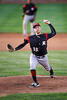Richmond Flying Squirrels starting pitcher Matt Gage (53) during a game against the Erie SeaWolves on May 27, 2016 at Jerry Uht Park in Erie, Pennsylvania.  Richmond defeated Erie 7-6.  (Mike Janes/Four Seam Images)