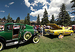 Cool Cars, celebration, history, Fourth of July, event, summer, morning, Rocky Mountains, Estes Park, Colorado, USA