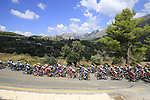 The peloton on the Cat 2 climb to Puerto de Confrides during Stage 2 of La Vuelta 2019 running 199.6km from Benidorm to Calpe, Spain. 25th August 2019.<br /> Picture: Eoin Clarke | Cyclefile<br /> <br /> All photos usage must carry mandatory copyright credit (© Cyclefile | Eoin Clarke)