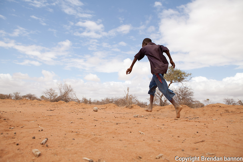 Children playing in Ifo 2 camp, Dadaab refugee camp, Kenya. Octber 2011