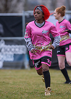 Temple (Alien Uncovered) during the SOCCER SIX Celebrity Football Event at the Queen Elizabeth Olympic Park, London, England on 26 March 2016. Photo by Andy Rowland.