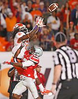 Clemson Tigers wide receiver Sammy Watkins (2) beats Ohio State Buckeyes cornerback Doran Grant (12) for a TD at the 2014 Discover Orange Bowl at Sun Life Stadium in Miami Gardens, Florida on January 3, 2014. (Chris Russell/Dispatch Photo)