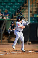 Jackson Generals Evan Marzilli (7) at bat during a Southern League game against the Mississippi Braves on July 23, 2019 at The Ballpark at Jackson in Jackson, Tennessee.  Jackson defeated Mississippi 2-0 in the first game of a doubleheader.  (Mike Janes/Four Seam Images)