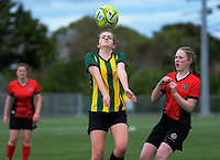 Action from the 2019 Grant Jarvis NZ Secondary Schools Girls' 1st XI tournament match betweenSacred Heart College (Lower Hutt) and Wanganui High School at Memorial Park in Petone, New Zealand on Wednesday, 4 September 2018. Photo: Dave Lintott / lintottphoto.co.nz