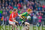 Shane O'Callaghan Kerry in action against Brian Hurley  Cork in the McGrath cup final at Mallow on Sunday.