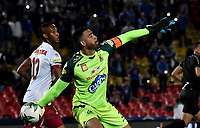BOGOTÁ-COLOMBIA, 17–04-2019: Álvaro Montero de Deportes Tolima en acción durante partido de la fecha 16 entre Millonarios y Deportes Tolima, por la Liga Águila I 2019, jugado en el estadio Nemesio Camacho El Campín de la ciudad de Bogotá. / Alvaro Montero of Deportes Tolima in action during a match of the 16th date between Millonarios and Deportes Tolima, for the Aguila Leguaje I 2019 played at the Nemesio Camacho El Campin Stadium in Bogota city, Photo: VizzorImage / Luis Ramírez / Staff.