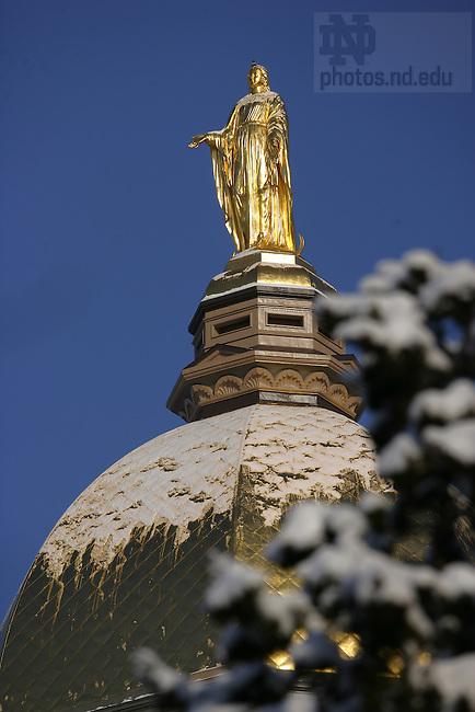 Dome in winter.<br /> <br /> Photo by Matt Cashore/University of Notre Dame