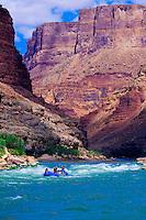 Whitewater rafting, Tiger Wash Rapid, Marble Canyon, Grand Canyon National Park, Arizona USA