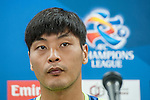 Jeonbuk Hyundai Motors goalkeeper Kwoun Sun-tae attends press conference ahead of the 2015 AFC Champions League Quarter-Final 1st Leg match between Jeonbuk Hyundai Motors and Gamba Osaka on August 25, 2015 at the Jeonju World Cup Stadium, in Jeonju, Korea Republic. Photo by Xaume Olleros /  Power Sport Images