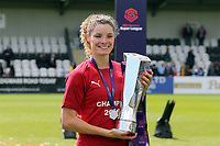 Vivianne Miedema of Arsenal Women with the FA Women's Super League Trophy  during Arsenal Women vs Manchester City Women, FA Women's Super League Football at Meadow Park on 11th May 2019