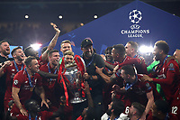Liverpopol's coach Jurgen Klopp holds the trophy at the end of the UEFA Champions League final football match between Tottenham Hotspur and Liverpool at Madrid's Wanda Metropolitano Stadium, Spain, June 1, 2019. Liverpool won 2-0.<br /> UPDATE IMAGES PRESS/Isabella Bonotto