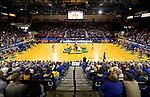 BROOKINGS, SD - FEBRUARY 23: South Dakota Coyotes and the South Dakota State Jackrabbits tip off their game Sunday at Frost Arena in Brookings, SD. (Photo by Dave Eggen/Inertia)