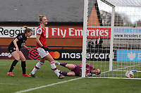 Vivianne Miedema of Arsenal scores the fifth goal for her team to complete her hat-trick during Arsenal Women vs Bristol City Women, Barclays FA Women's Super League Football at Meadow Park on 1st December 2019