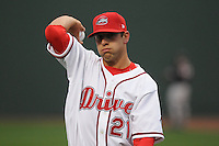 April 3, 2008: Chris Province (21) of the Greenville Drive, Class A affiliate of the Boston Red Sox, pitches during the season opener against the Kannapolis Intimidators at Fluor Field at the West End in Greenville, S.C. Photo by:  Tom Priddy/Four Seam Images