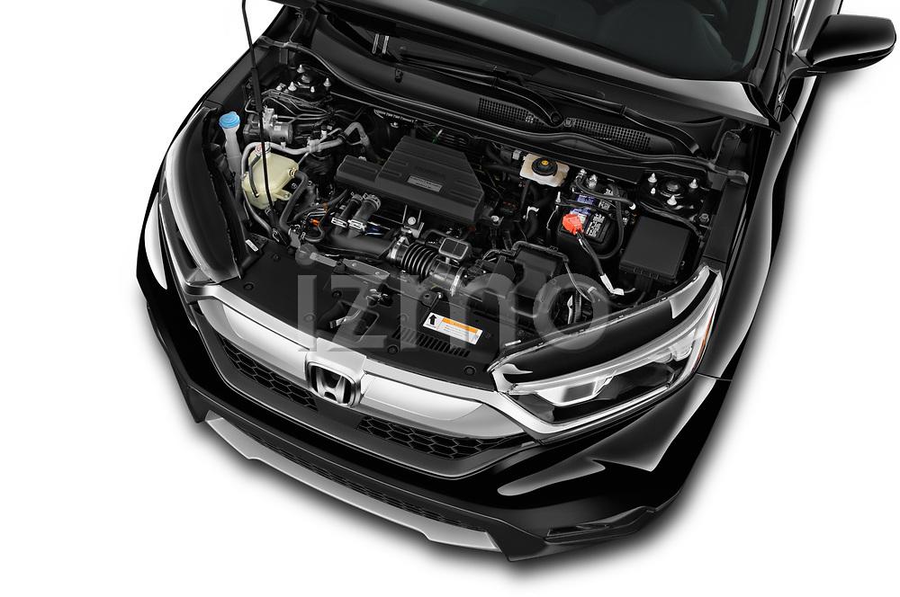 Car Stock 2017 Honda CR-V EX-L 5 Door SUV Engine  high angle detail view