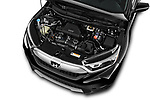 Car Stock 2017 Honda CR-V EX-L 5 Door SUV Engine  high angle detail view