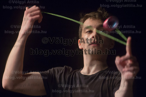 Daniel Tamariz-Martel of Spain competes during the Yoyo European Championships in Budapest, Hungary on February 24, 2013. ATTILA VOLGYI