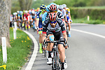 UAE Team Emirates on the front of the peleton during the 104th edition of La Doyenne, Liege-Bastogne-Liege 2018 running 258.5km from Liege to Ans, Belgium. 22nd April 2018.<br /> Picture: ASO/Karen Edwards | Cyclefile<br /> <br /> <br /> All photos usage must carry mandatory copyright credit (&copy; Cyclefile | ASO/Karen Edwards)