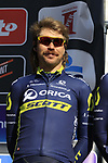 Mitch Docker (AUS) Orica-Scott team on stage at sign on before the start of Gent-Wevelgem in Flanders Fields 2017, running 249km from Denieze to Wevelgem, Flanders, Belgium. 26th March 2017.<br /> Picture: Eoin Clarke | Cyclefile<br /> <br /> <br /> All photos usage must carry mandatory copyright credit (&copy; Cyclefile | Eoin Clarke)